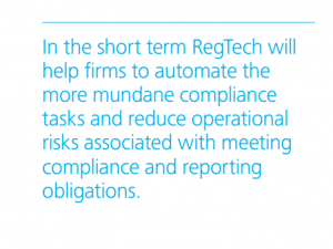 regtech automate compliance tasks and reduce risks